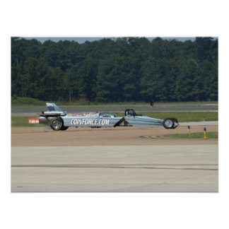 Smoke-N-Thunder Jet Car driven by Bill Braack. Print