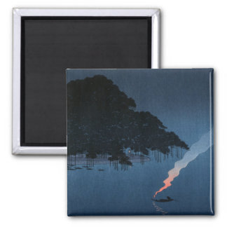 Smoke On The Water Square Magnet