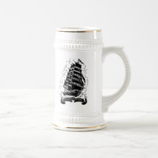 smoke or fire ship beer stein