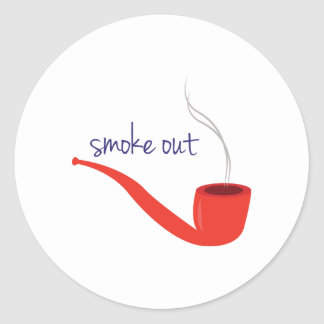 Smoke Out Round Stickers
