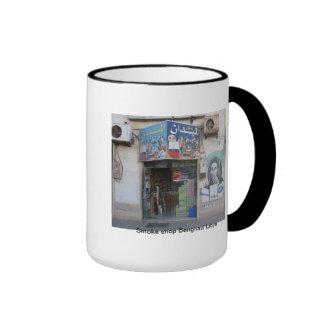smoke shop Benghazi Libya Ringer Mug