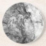 Smoke Streaked Black White marble stone finish Beverage Coasters