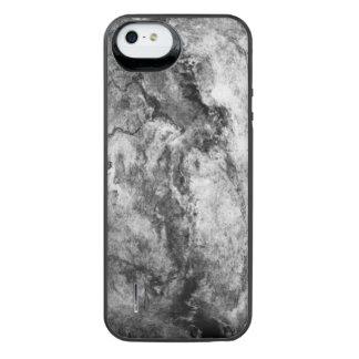 Smoke Streaked Black White marble stone finish iPhone SE/5/5s Battery Case