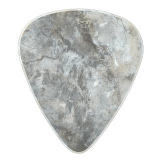Smoke Streaked Black White marble stone finish Pearl Celluloid Guitar Pick