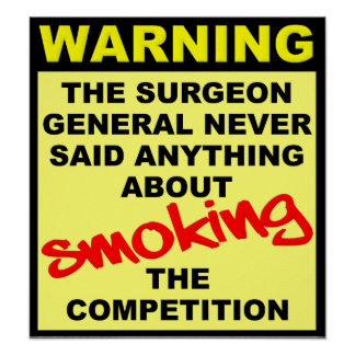 Smoke The Competition Motocross Dirt Bike Poster