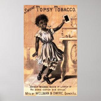 Smoke Topsy Tobacco Print