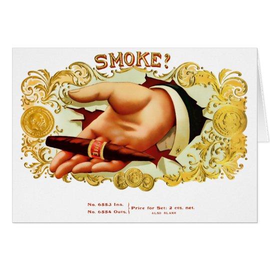 Smoke? Vintage Cigar Label Card