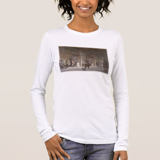 Smokehouse in Greenland (colour engraving) Long Sleeve T-Shirt
