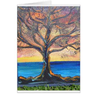 Smokehouse tree Lahaina Greeting Card
