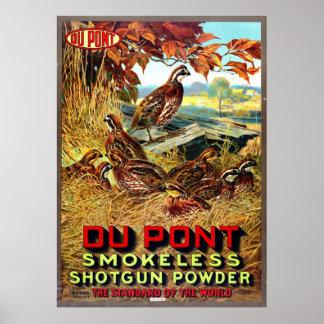 Smokeless Shotgun Powder Ad 1913 Poster