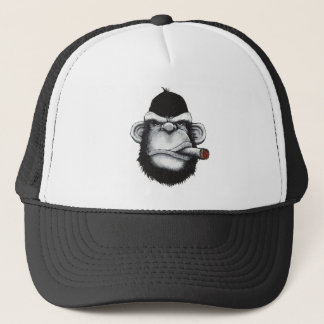 Smoker Monkey Trucker Hat