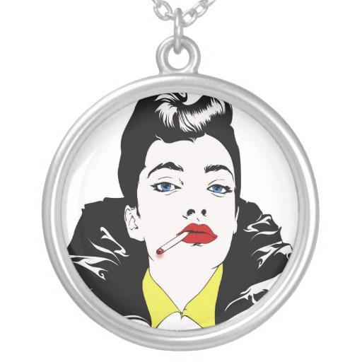 smoker woman necklace