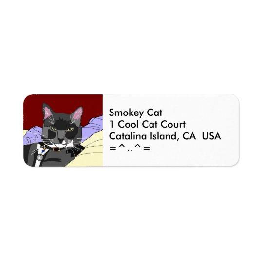 Smokey Cat Address Label
