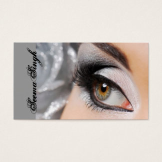 Smokey Eye silver Business Card