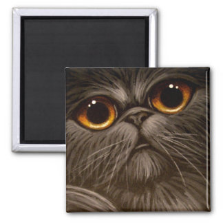 SMOKEY PERSIAN CAT PAINTING 1 Magnet