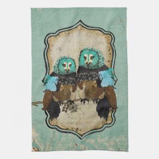 Smokey Rose Owls Towel