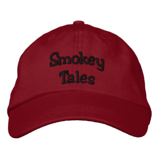Smokey Tales Red Cap Embroidered Hat