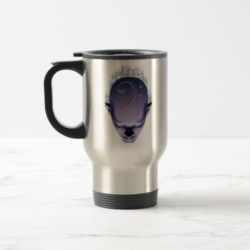 Smokin' Bass Head 15 Oz Stainless Steel Travel Mug