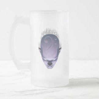 Smokin' Bass Head Frosted Glass Mug