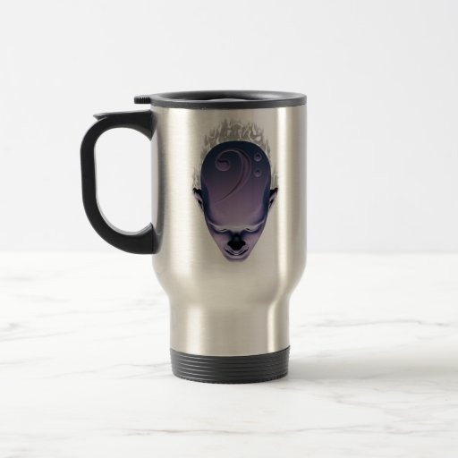Smokin' Bass Head Stainless Steel Travel Mug