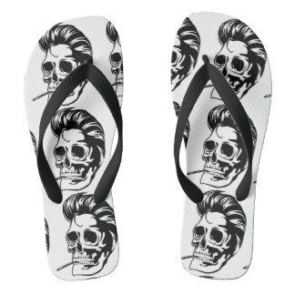 Smokin' Hip Greaser Skull Flip Flops