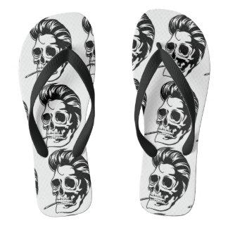 Smokin' Hip Greaser Skull Flip Flops