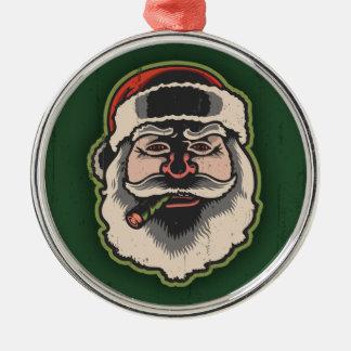 Smokin' Santa III Christmas Ornament