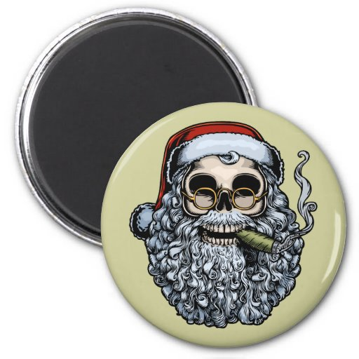Smokin' Santa Skull