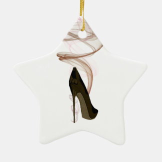 Smokin Stiletto Shoe Art Ceramic Star Decoration