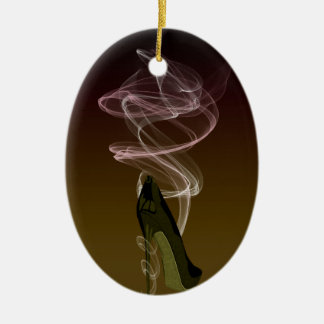 Smokin' Stiletto Shoe Art Christmas Ornament