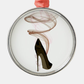 Smokin Stiletto Shoe Art Christmas Ornament