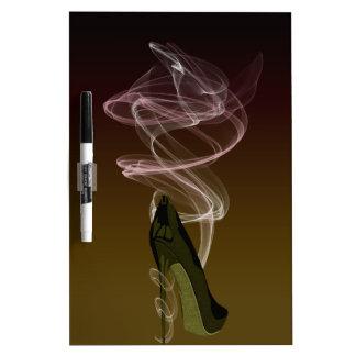 Smokin Stiletto Shoe Art Dry Erase Whiteboard