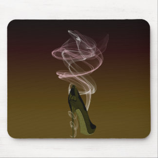 Smokin' Stiletto Shoe Art Mouse Pad
