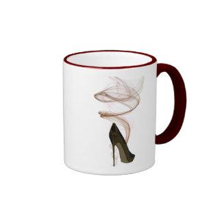 Smokin Stiletto Shoe Art Ringer Mug