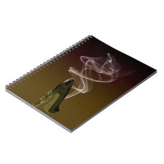 Smokin Stiletto Shoe Art Spiral Note Books