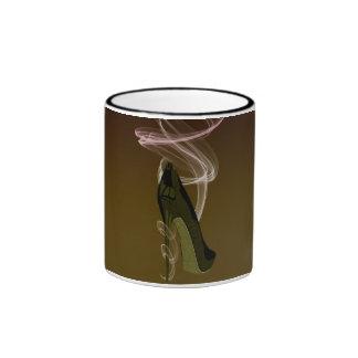 Smokin' Stiletto Shoe Art Ringer Mug