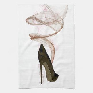 Smokin Stiletto Shoe Art Tea Towel