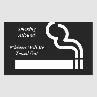 Smoking Allowed Rectangular Sticker