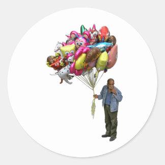 Smoking Balloon Salesman Sticker