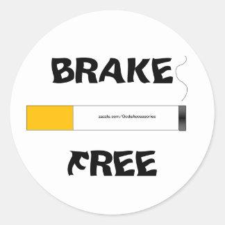 Smoking Brake Free sticker