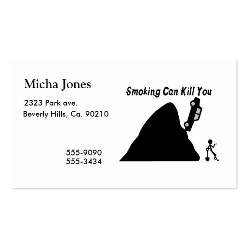 Smoking Can Kill You Business Card