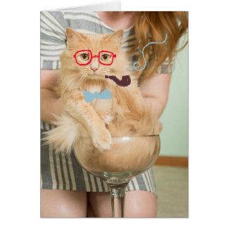 Smoking Cat Card