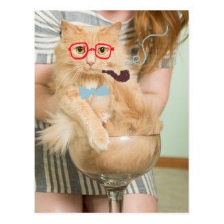 Smoking Cat Postcard