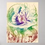 Smoking Caterpillar Alice in Wonderland Print