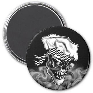 Smoking Chef Skull 5 7.5 Cm Round Magnet