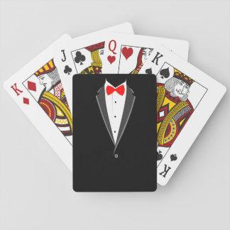 smoking costume tuxedo black elegant suit poker deck