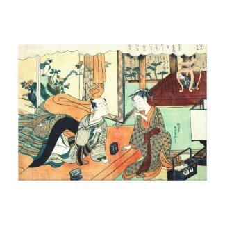 Smoking Couple 1770 Canvas Prints