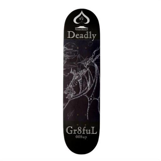 smoking dragon skateboard