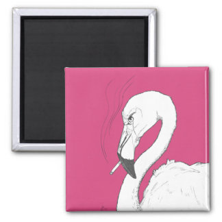Smoking Flamingo Magnet | Funny and Campy