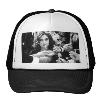 Smoking Girl Cap